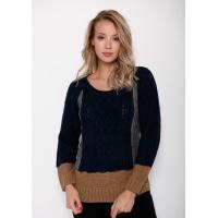 Шерстяной вязаный свитер с рукавами-реглан