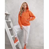 Оранжевое худи из трикотажа на флисе