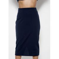 Темно-синяя классическая юбка-карандаш длины миди